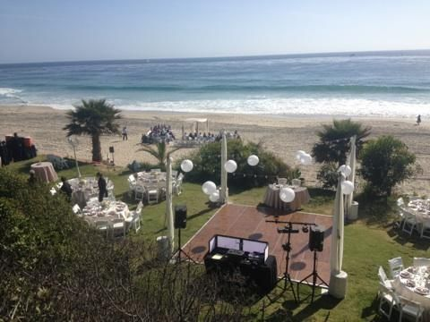 Probably A Little More Relevant To Us With The Round Tables Overview Salt  Creek Beach Weddings