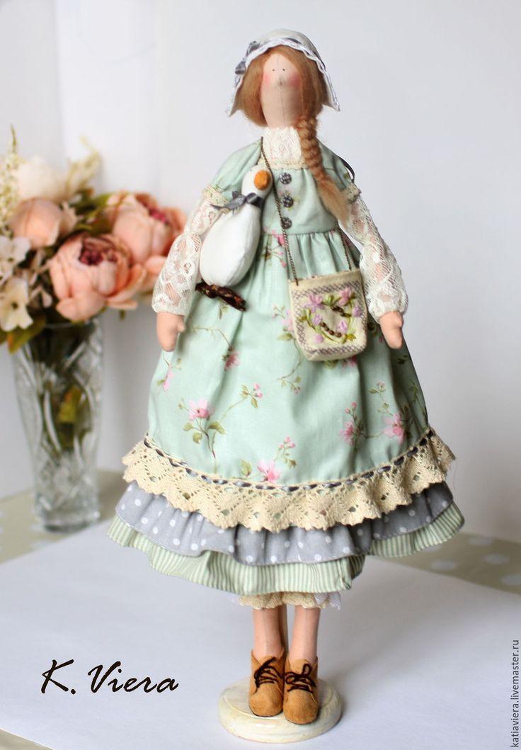 """Купить Кукла тильда Хлоя - """"летняя прохлада"""" - тильда тильда, тильда кукла, мятный"""