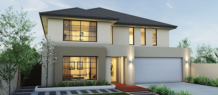 Modern house exterior olive beige two storey