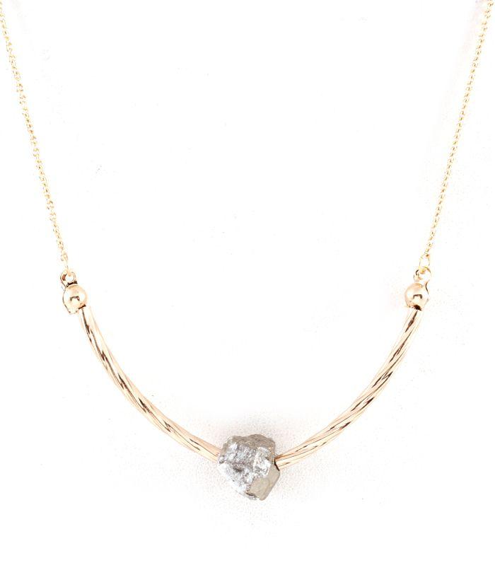 Simplicity Pyrite Necklace on Emma Stine Limited
