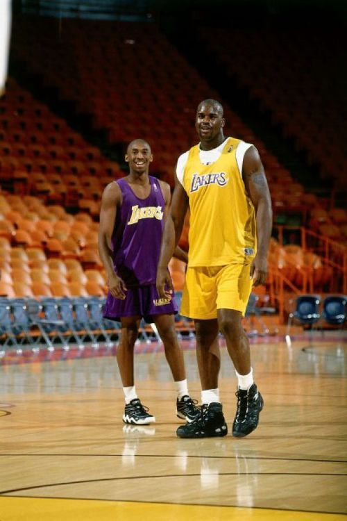 Major throwback with the Kobe who was still a kid and the Shaq who'd quickly grown into the big man of the league.