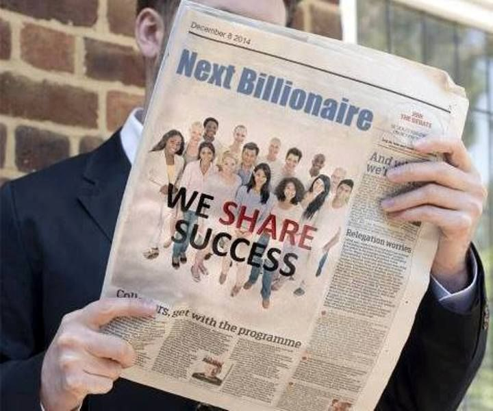 We Share Success on newspaper