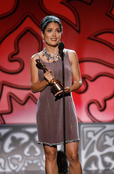 Salma Hayek Photos - Actress Salma Hayek, recipient of the Anthony Quinn Award for Industry Excellence, speaks onstage at the 2009 ALMA Awards held at Royce Hall on September 17, 2009 in Los Angeles, California. - 2009 ALMA Awards - Show