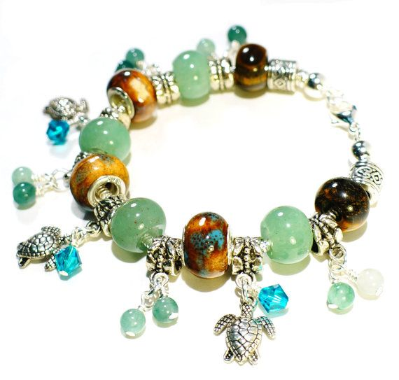 Exotic Island Bracelet with European Large Hole by BrankletsNBling, $35.00
