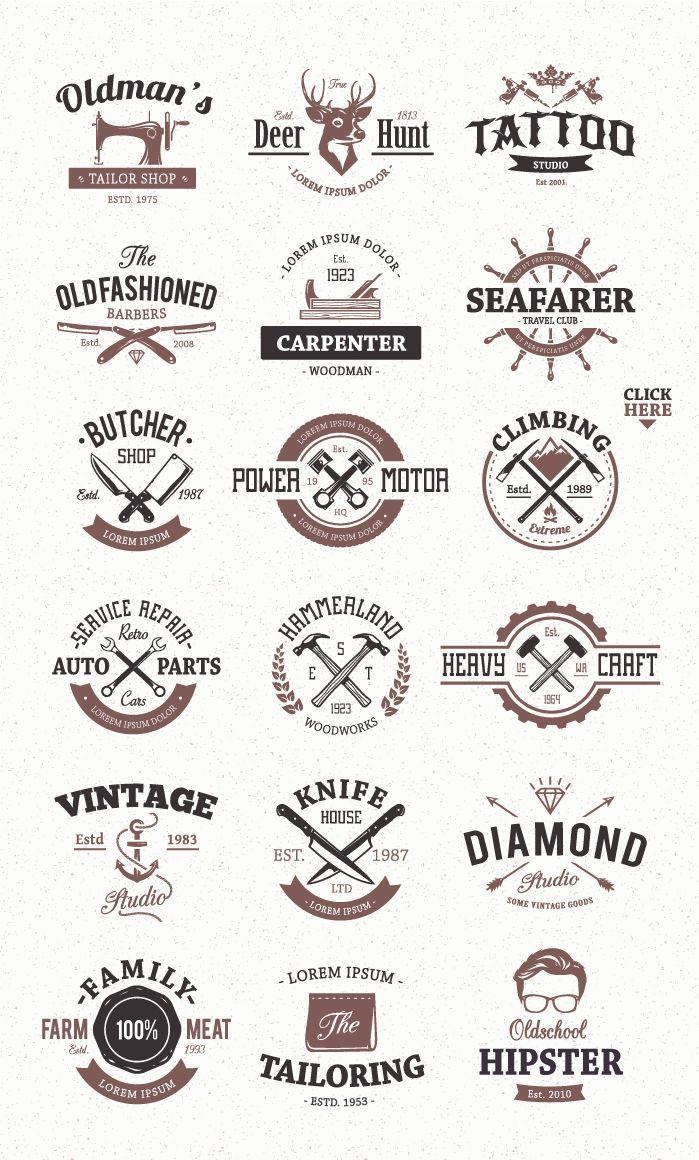Workshop Logo Templates 2118 Logos Design Bundles In 2020 Logo Templates Vintage Logo Design Vintage Logo