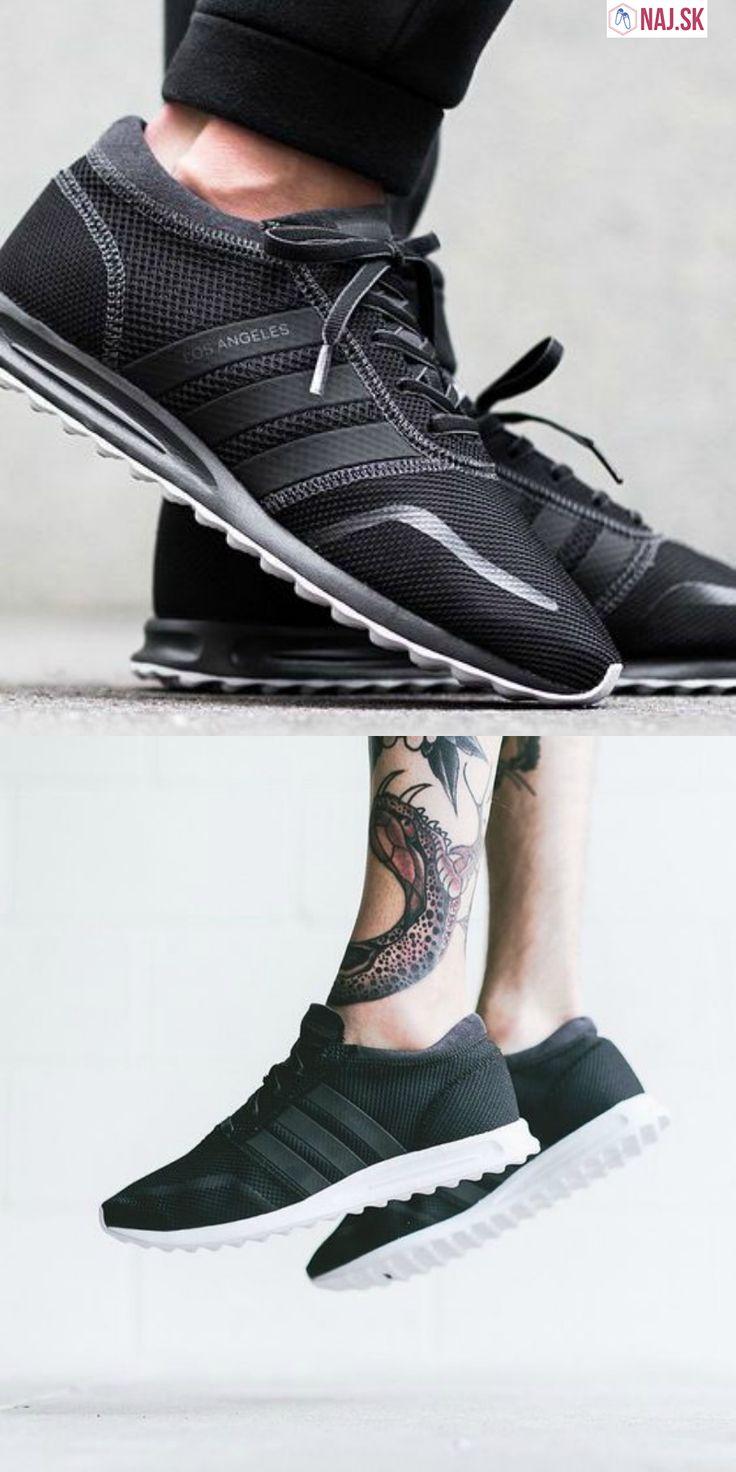 čierne tenisky adidas, adidas los angeles, black, shoes, sneakers, tattoo
