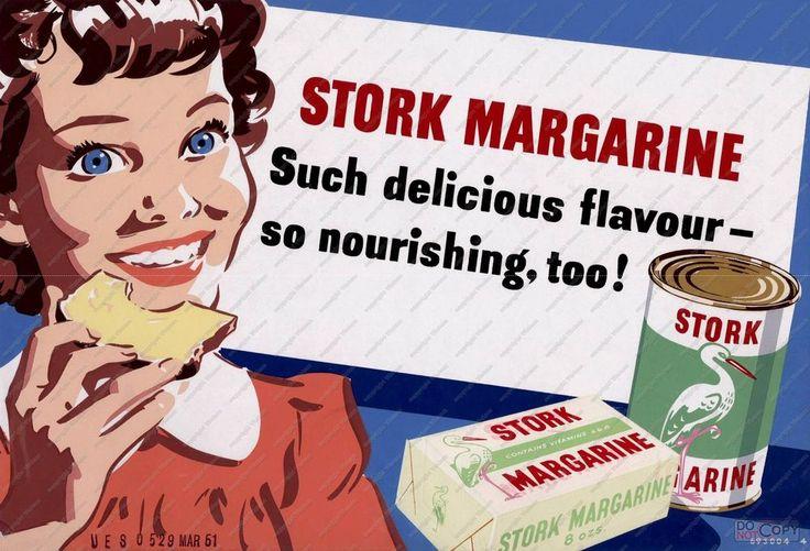 Stork Margarine , Vintage advertising poster reproduction in Art, Posters, Modern (1900-1979) | eBay