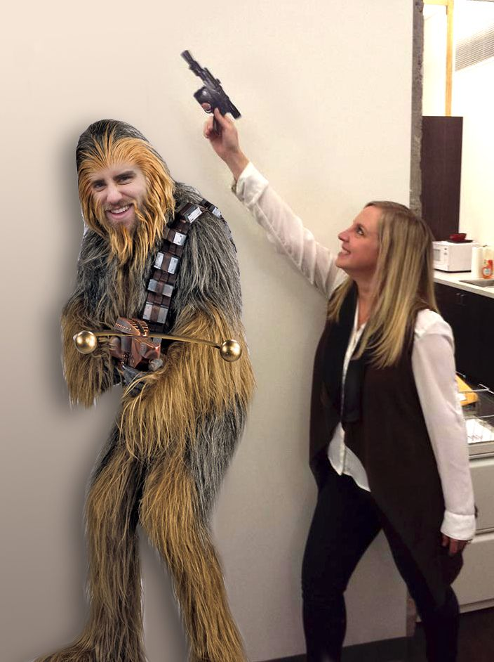 We got a little weird in the office this week. #starwars #hansolo #chewbacca #nerds