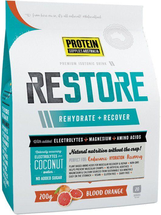 Protein Supplies Australia Restore Blood Orange (Powdered Isotonic Hydration Drink) 200g