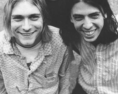 kurt cobain and dave grohl - nirvana