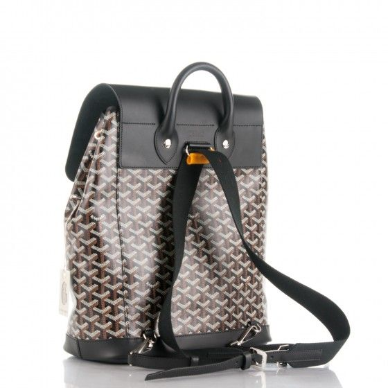 GOYARD Chevron Calfskin Alpin Backpack Black 174937
