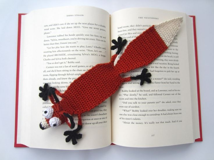 Amigurumi Fox Bookmark crochet pattern - Allcrochetpatterns.net