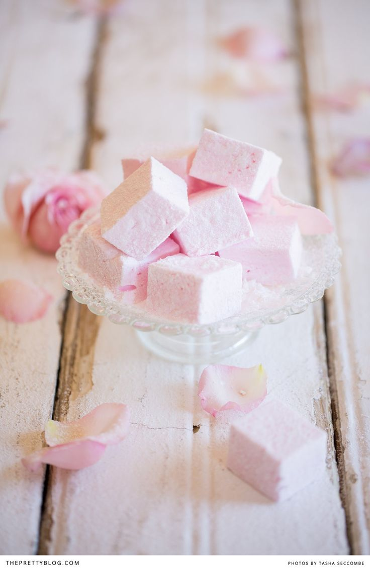 Spring Tea or Mediterranean foodie party Homemade Rosewater Marshmallows | Recipes | The Pretty Blog