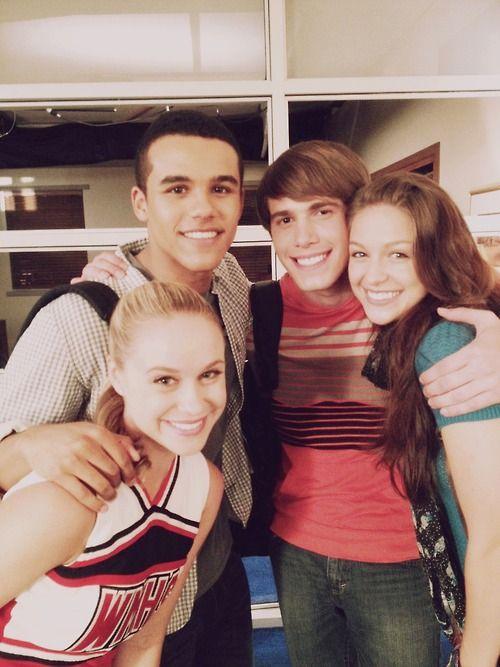 Becca Tobin, Jacob Artist, Blake Jenner, Melissa Benoist - Cast of Glee