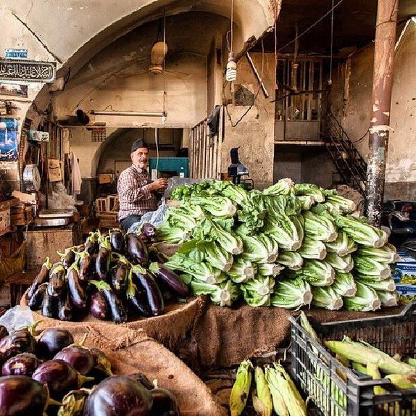 Fruit and veg seller in Qom