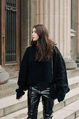 Laura Matuszczyk in vinyl pants (PVC Fashion) Tags: laura matuszczyk shiny sexy pvc vinyl plastic pants trousers fashion clothing wear model celebrities celebrity girls beauty