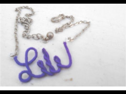 Collar personalizado con tu propio nombre! Make your own DIY name necklace.