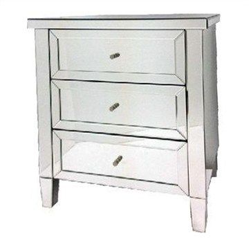 Harris Mirrored Bedside Table