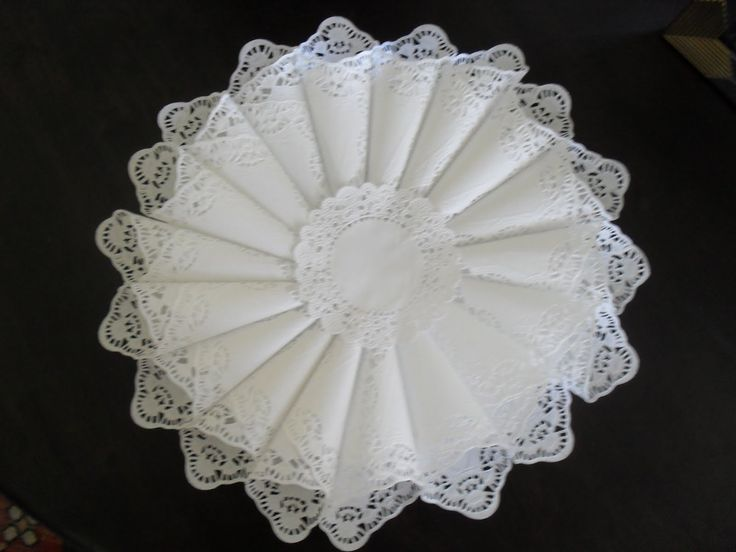 Make a Paper Doily Cone Wreath