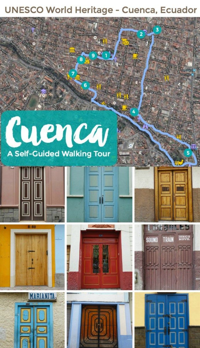 Discover colonial Cuenca, Ecuador by foot on your own time. Handy interactive map shows must see attractions, markets, and places to eat.