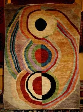 rug designed by Sonia Delaunay