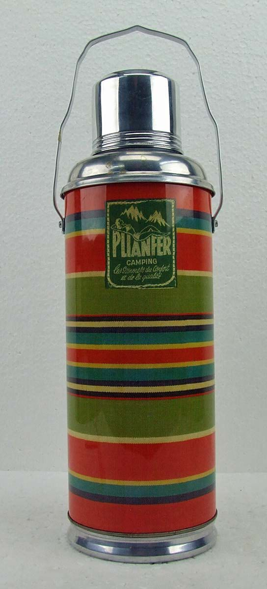 Vintage Tall Plianfer Camping Glamping Thermos by RetroCentsStudio