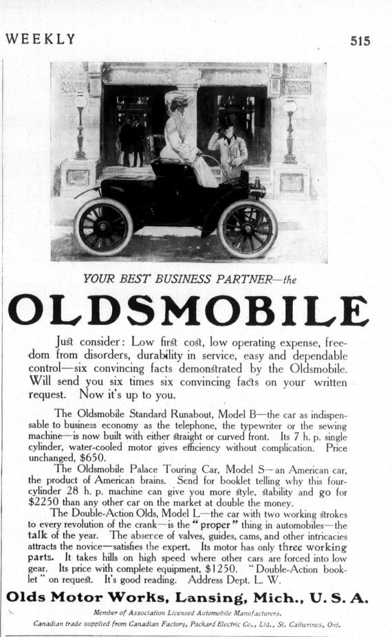 Your Best Business Partner -- The Oldsmobile (1906)