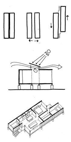 Uma moderna casa container de 93m² na Costa Rica, by Benjamin Garcia Saxe. Casa container; escadas pré-moldadas, shipping container homes; 40-foot shipping containers; stairs. #containerhome #shippingcontainer