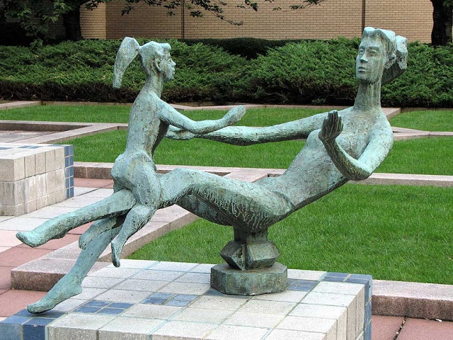 Mother Playing by Chaim Gross, Fordham University, New York