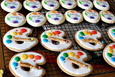 "Kid's ""art party"" cookies!"