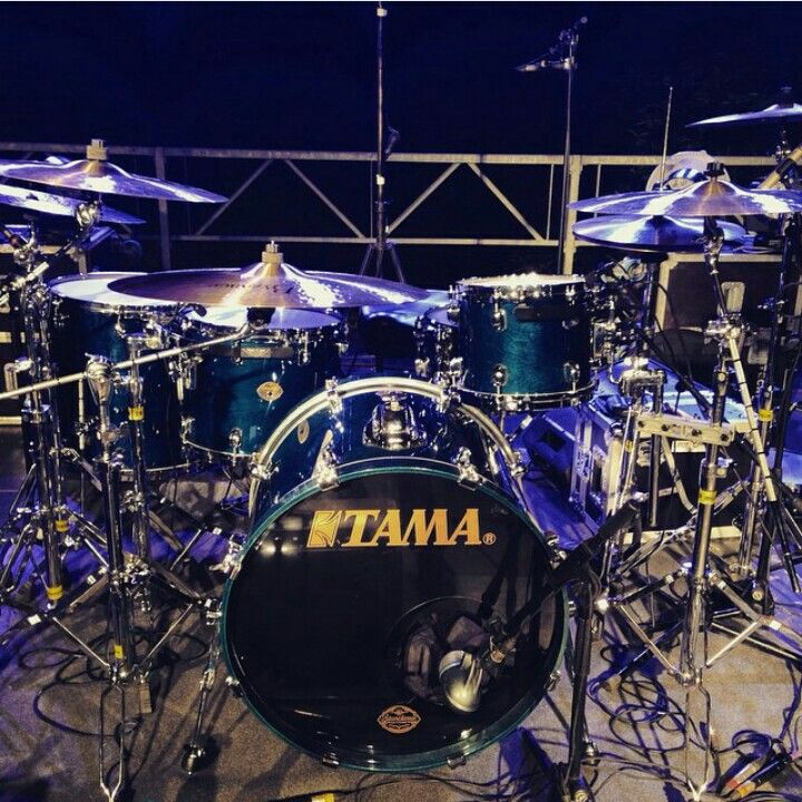 Tama Drums In Purple And Blue Lights