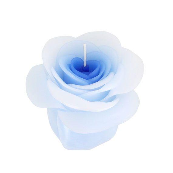 Rosen Kerze In Hellblau Sehnsucht Verlangen Extravaganz