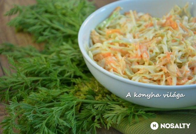 Káposztás sárgarépa-saláta