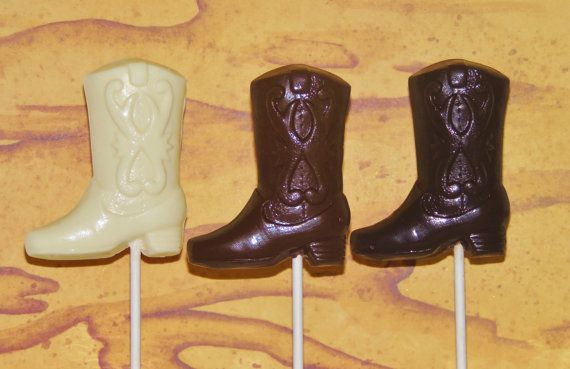 Western Cowboy Boot Chocolate Lollipop Popsicle Country Party
