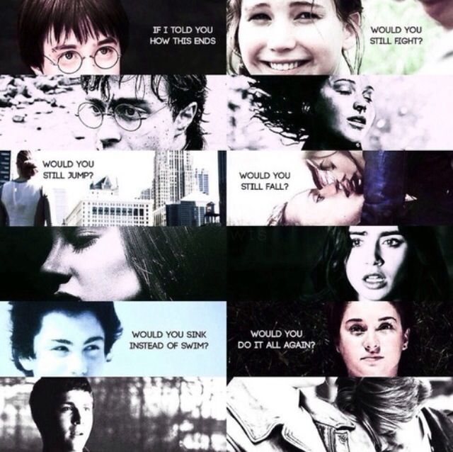 Harry Potter - The Hunger Games - Divergent - The Mortal Instruments - Percy Jackson - The Fault In Our Stars