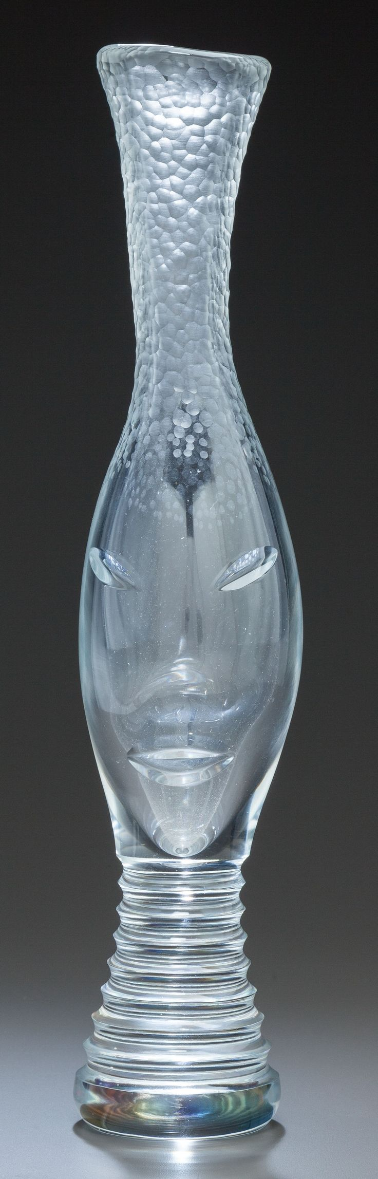 ** Vicke Lindstrand (Swedish, 1904-1983), Orrefors, Engraved Glass Vase.