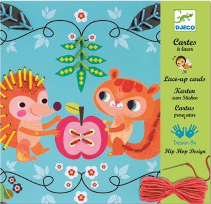 DJECO borduurkaarten Little Friends   PSikhouvanjou