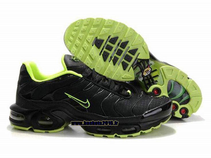 Nike Officiel Nike Air Max TN Chaussures Pas Cher Pour Homme Noir Vert
