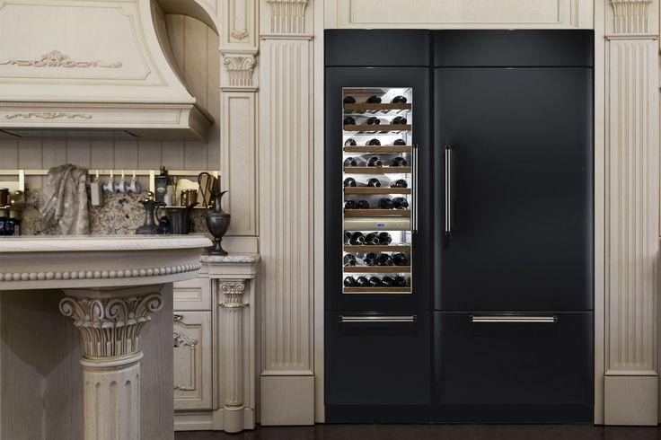 25 beste idee n over wijn koelkast op pinterest wijnopslag wijnkoeler en drank bars - Keuken met wijnkelder ...