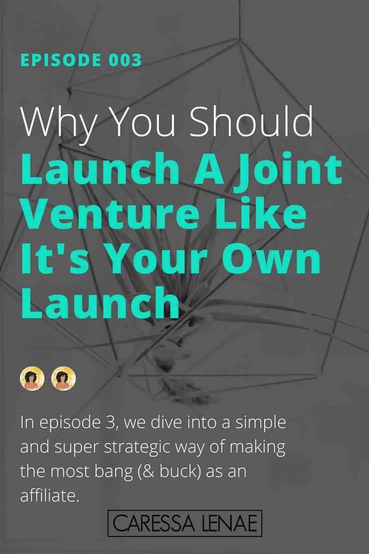 In episode 003 of The Business Casual Podcast, I dive into why it's important to create a strategic affiliate marketing campaign for your joint venture launches. via @CaressaLenae
