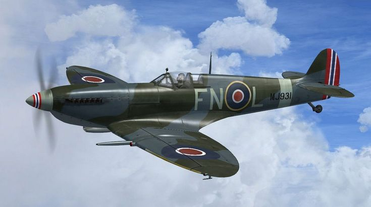 "Supermarine Spitfire IX ""FN-L"" And ""FN-K"" for FSX"