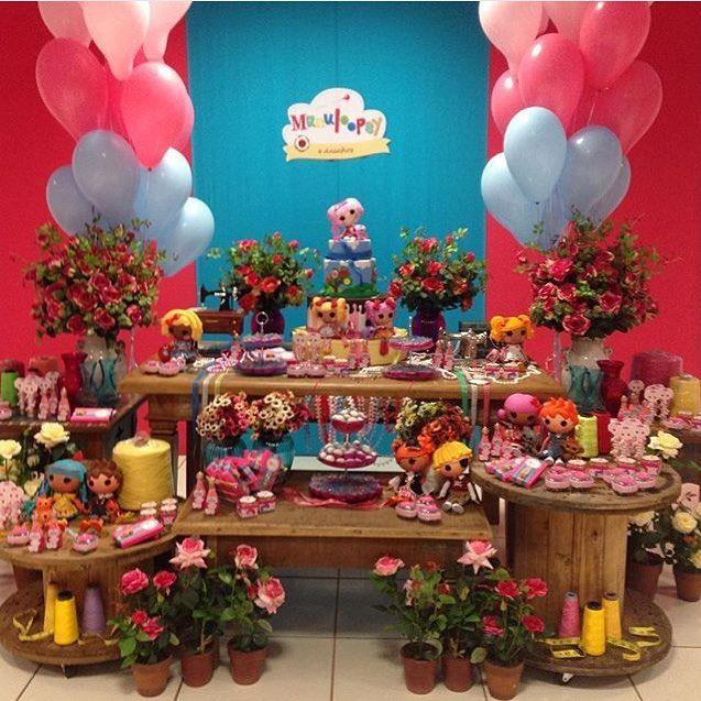Tema que adoro, sempre alegre e cores lindas! Festa Lalaloopsy por @silviasoriapartydesigner  #kikidsparty #kikidslalaloopsy #lalaloopsyparty #festalalaloopsy