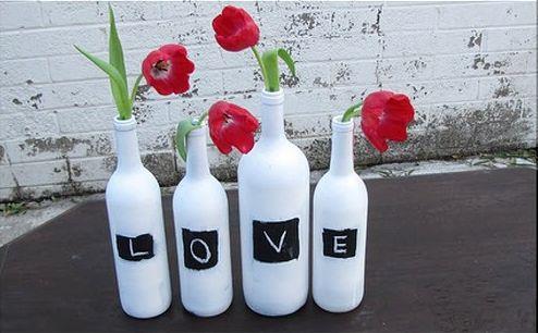 ? Centros de mesa con botellas de vino (II)