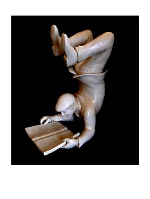 Allegorical sculpture by artist Gianfranco Nonne titled: 'Light (Ceramic Yoga Sculptures)' £2667 #sculpture #art