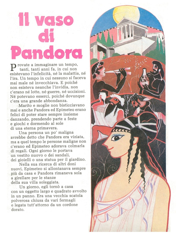 Il vaso di Pandora - I Raccontastorie.