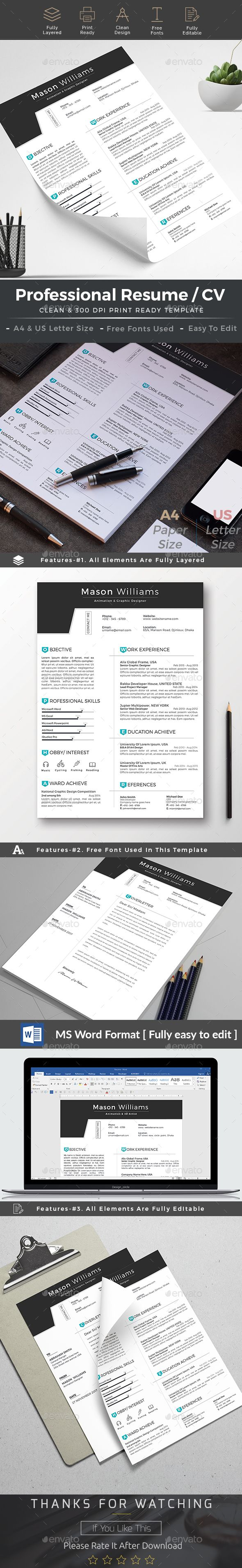 free creative resume templates that stand out%0A Resume cv word  Resume Design TemplateCreative