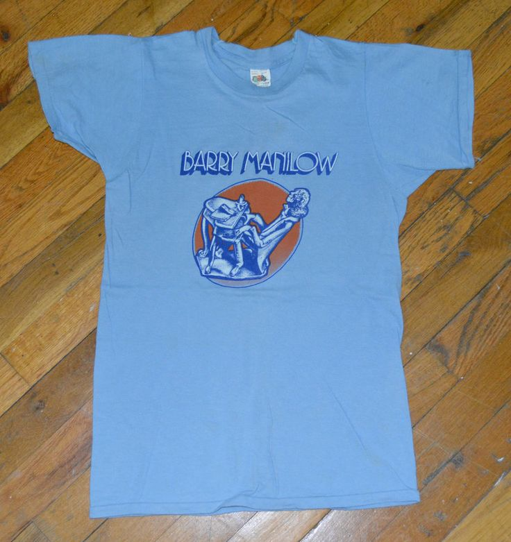 """Rare * 1975 BARRY MANILOW * vintage concert tour promo t-shirt (S) 70s Arista Record. Great gift! Use code """"pinterest"""" to seller for 5% off!"""