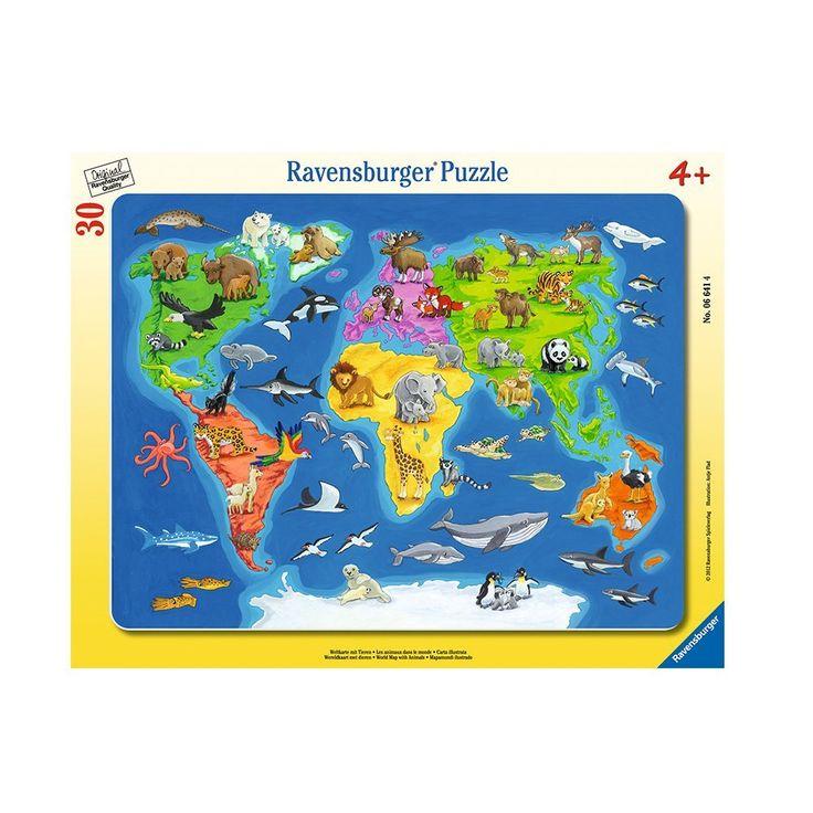 Ravensburger - 06641 - Puzzle Cadre - Animaux du Monde - 30 Pièces: Amazon.fr: Jeux et Jouets