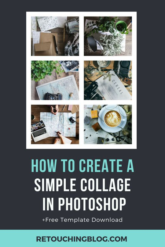 Learn how to Create a Simple Collage Template in Adobe Photoshop | Retouching Blog