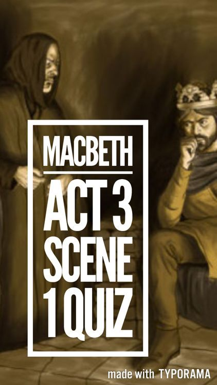 A quiz, with answers, based on Act 3, Scene 3 of Shakespeare's Macbeth. Useful for a starter, plenary or revision activity. For more ideas, activities and revision resources for teaching GCSE English please visit my website: www.gcse-english.com.